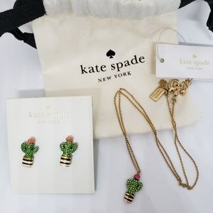 kate spade Jewelry - Kate Spade Cactus Necklace and Earrings